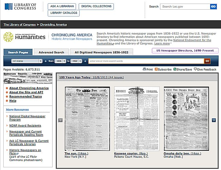 Chronicling America: Access Historical US Newspapers Online for Free