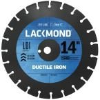 Lackmond 14 in. Segmented Diamond Blade for Cutting Ductile Iron Pipe