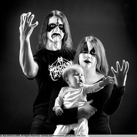 black metal family photo