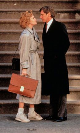 """Melanie Griffith and Harrison Ford in """"Working Girl"""" (1988)"""
