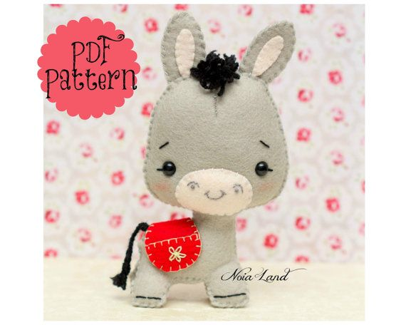 Cute Donkey PDF Pattern by Noialand on Etsy
