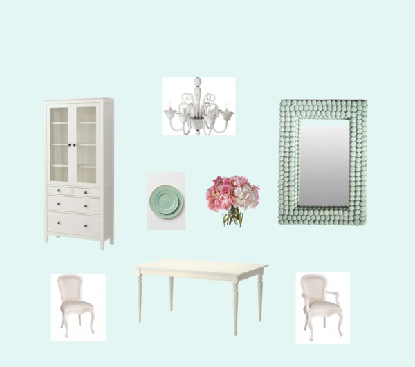 """New Aqua Dining Room"" by kekilian on Polyvore"