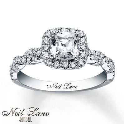 Dear future husband. This is my engagement ring. Don't fuck it up :) Neil Lane Engagement Ring 1 3/8 ct tw Diamonds 14K White Gold