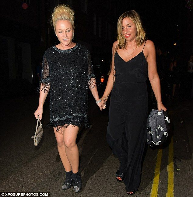 Hand-in-hand: The actress, 31, and gal pal Melanie Blatt took time out to enjoy…