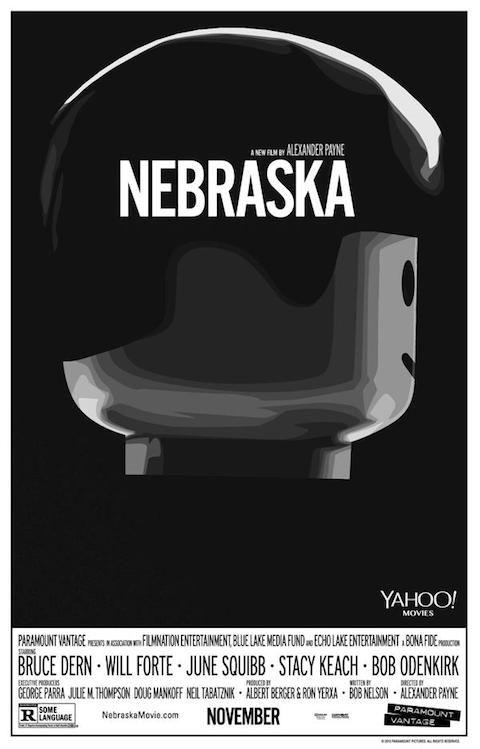 Nebraska - Carteles de películas nominadas al Oscar 2014 recreados con LEGO