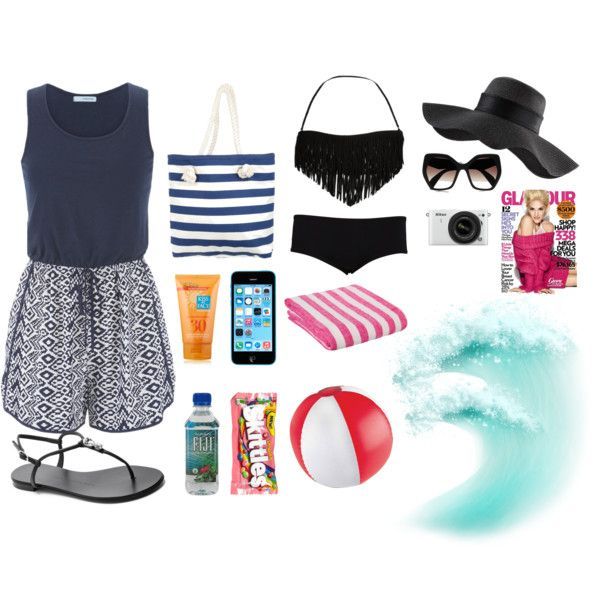 What To Bring The Beach Pool By Pushingapencil On Polyvore Featuring North Gossip