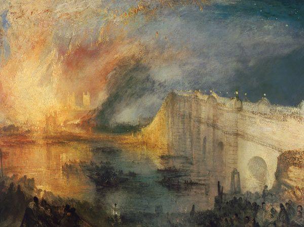 Titre de l'image : William Turner - Le feu à la chambre du Parlement
