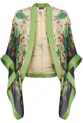 Kimono in silk chiffon by Pretty Eccentric