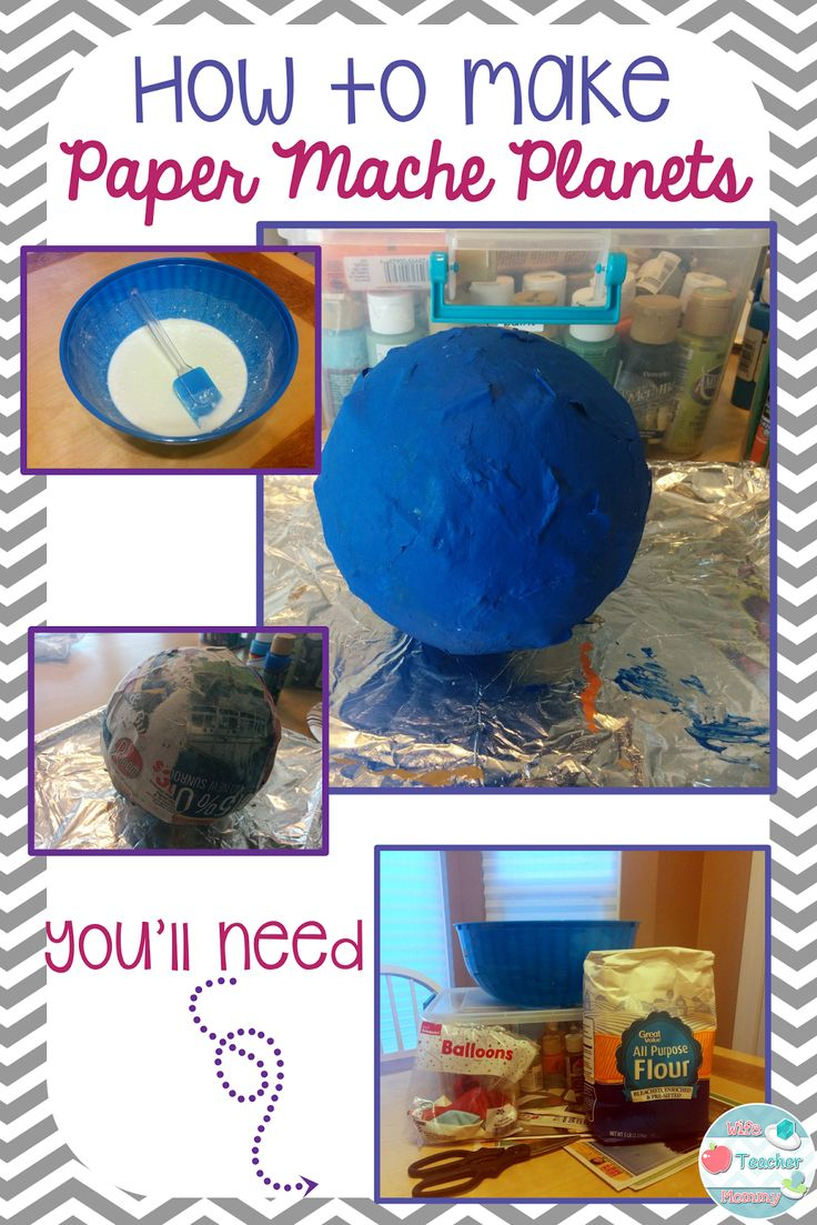 How To Make Paper Mache Planets - Wife Teacher Mommy