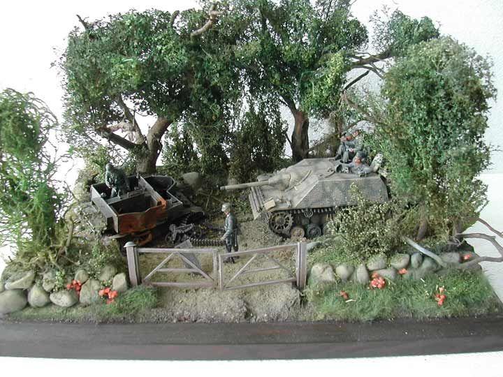 "Diorama ""Kämpfe um Villers Bocage – 14.Juni 1944"""