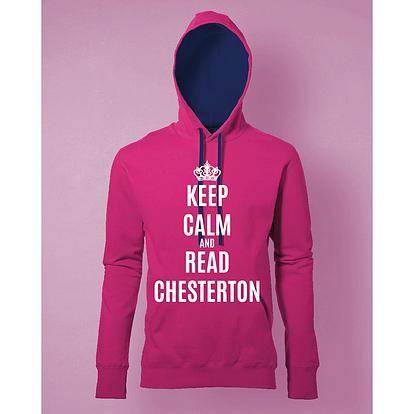 Stampa Felpa Donna #chesterton #frassati #distributismo  # KEPP CALM AND READ CHESTERTON