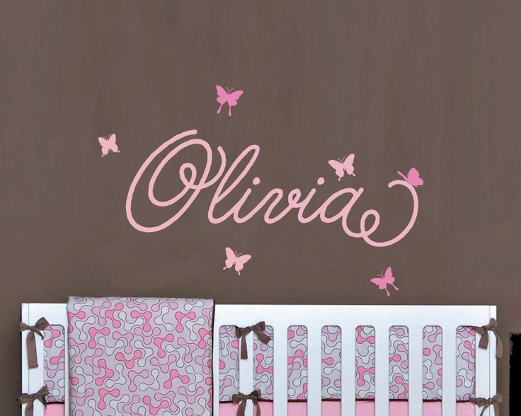 Childrens Custom Name Wall Decal, Butterflies Personalized Girls Name Wall  Sticker, Kids Wall Decor Part 53