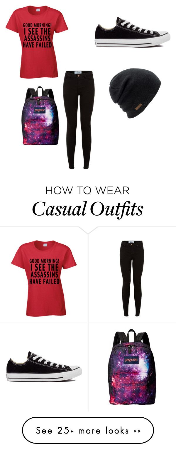 """Casual"" by fruitopia on Polyvore featuring Converse, Coal and JanSport"