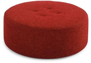 Loving this big red circular footstool
