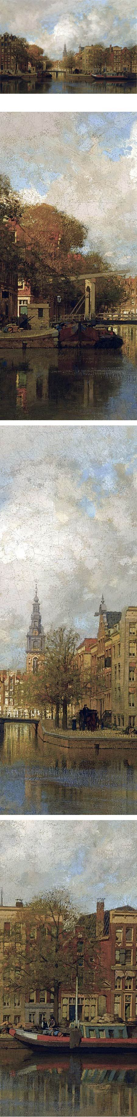 A View of the Groenburgwal with the Zuiderkerk, seen from the River Amstel, Amsterdam, Johannes Christiaan Karel Klinkenberg