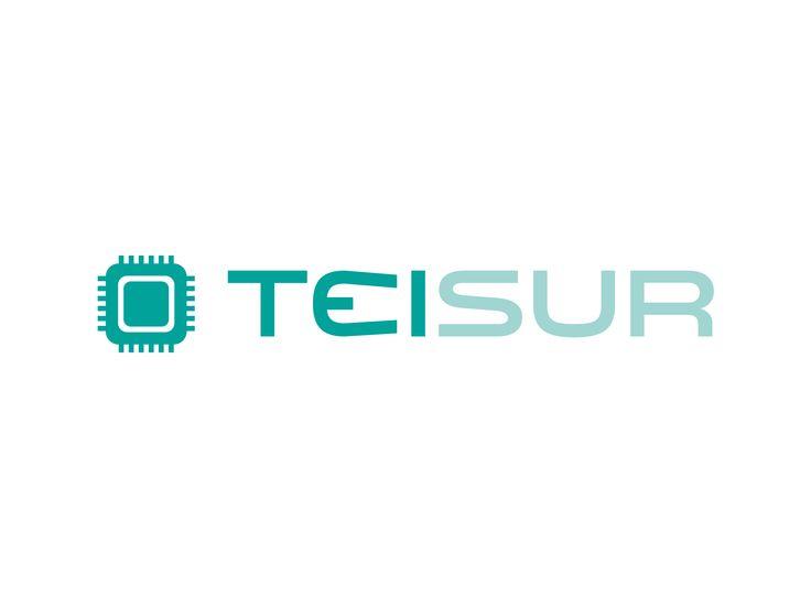 Logotipo para una empresa de informática. Con un diseño muy tecnológico combinado con un imagotipo con forma de chip.