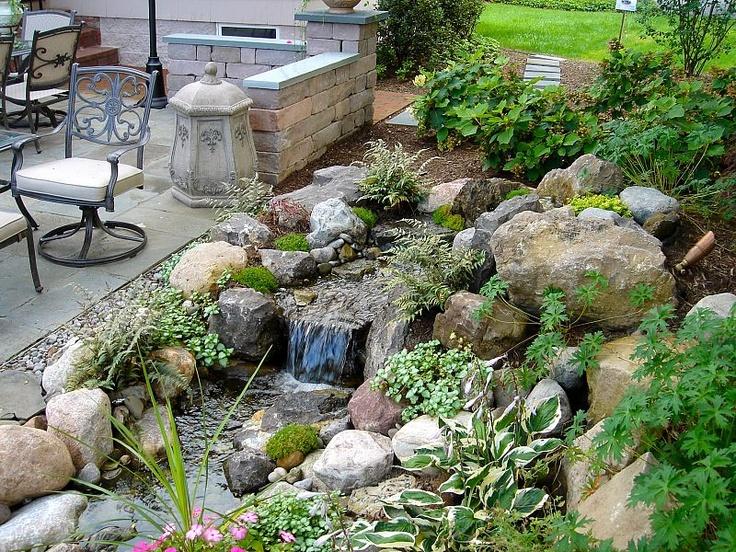 147 best Backyard Streams images on Pinterest   Backyard ... on Backyard Stream Ideas id=52903