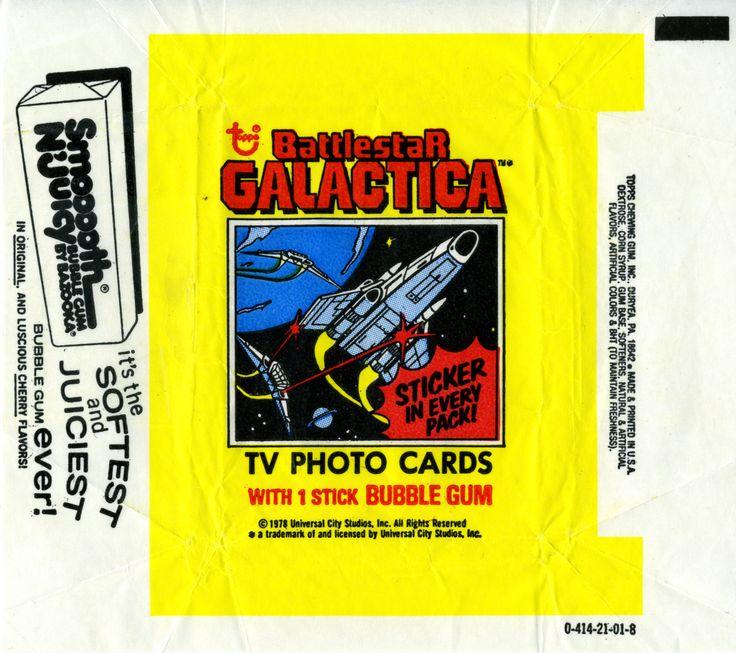 battlestar galactica bubblegum cards wrapper chew