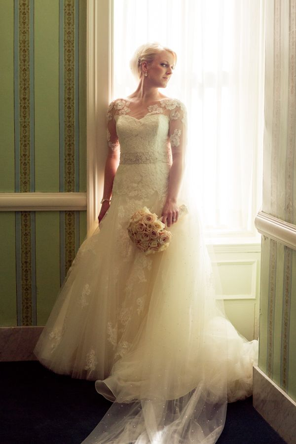 Beautiful bridal wearing Enzoani, photo Asya Photography | junebugweddings.com
