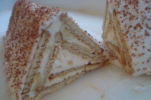Тортик из печенья «Творожный домик».