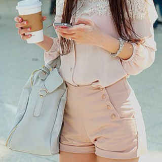 dressy looking high wasted shorts. I don't know if I personally would wear them, but they're cute!