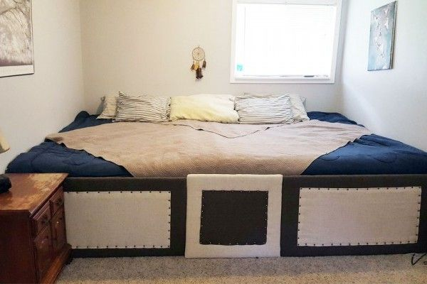 Couple Makes Huge Bed For More Room to Cuddle With Pets | WOOFipedia by The American Kennel Club