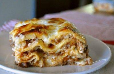 Bolognese Bechamel Lasagna
