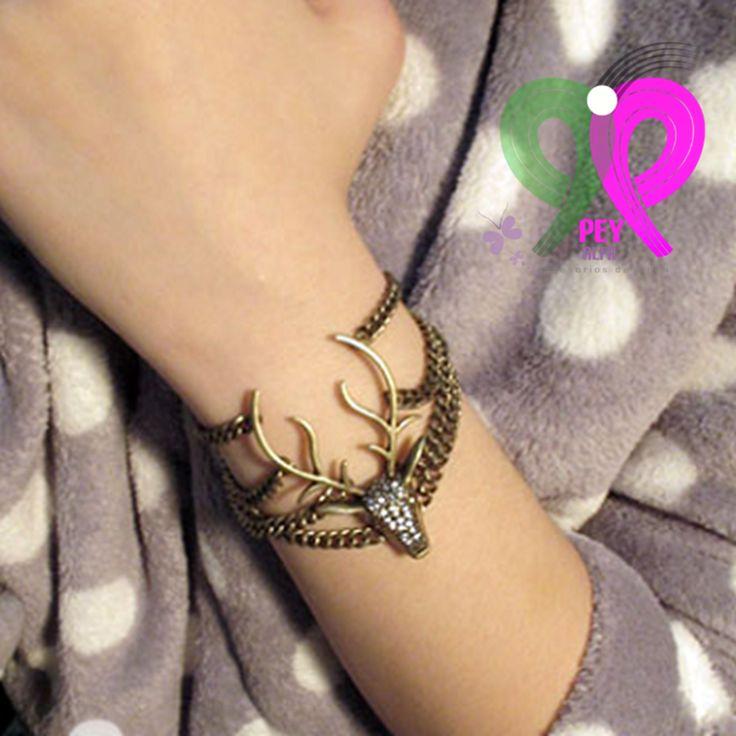 Linda y original PULSERA VENADO  a sólo $ 80.00 más variedad en moda sólo lo encontrarás aquí en: www.facebook.com/PEY.ALFA.Accesorios