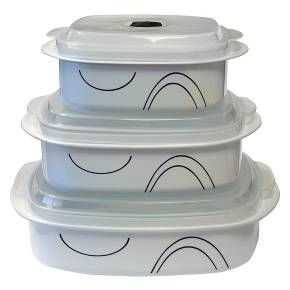 Corelle Coordinates Microwave Cookware Set of 6 - Simple Lines : Target