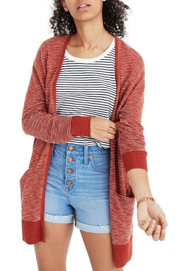 1e50641322 Free shipping and returns on Madewell Summer Ryder Stripe Cardigan at  Nordstrom.com. Designed with breezy summer nights in mind