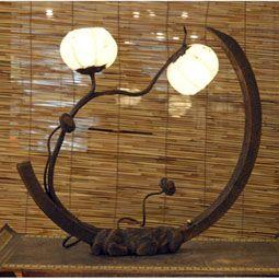 White Paper Lamp with Cinnamon Tree Flower Seeds Lantern Lights
