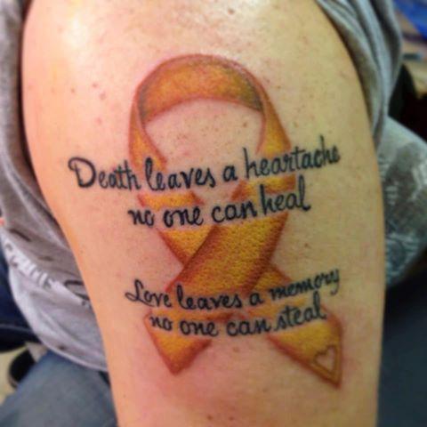 Suicide Awareness Ribbon Tattoo Foto Custom Suicide