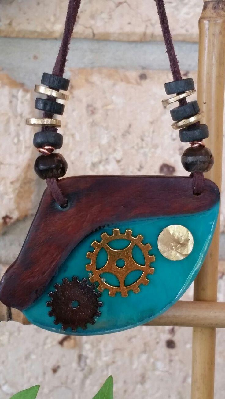 Like Clockwork - Wood and resin brass beads
