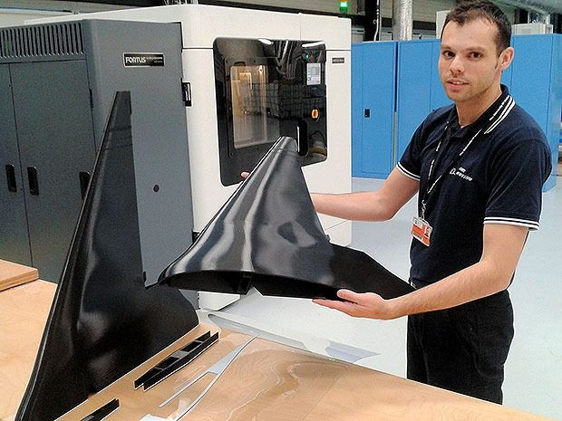 3D printed drone ushers in era of disposable aircraft. Engineers at the Advanced Manufacturing Research Centre at the University of Sheffield have printed the 1.5m-wide prototype as part of research into 3D printing of complex designs. The Sheffield UAV comprises nine parts that can be snapped together, weighs less than 2kg and is made from thermoplastic. The engineers are looking at nylon as a printing material that would make the UAV stronger with no increase in weight.