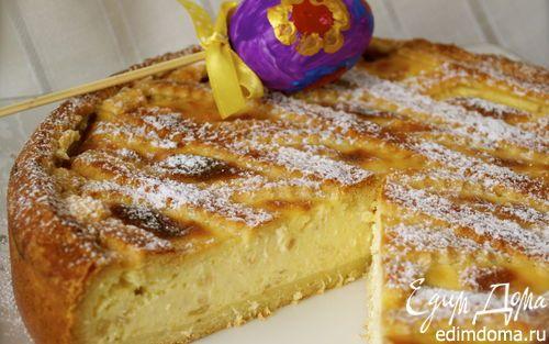 Итальянский пасхальный пирог с миндалем и заварным кремом (Pastiera) | Кулинарные рецепты от «Едим дома!»