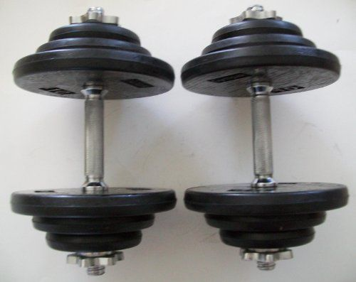 80 lb Adjustable Dumbbell Set with Rubber Encased Plates >>> Read more reviews of the product by visiting the link on the image.