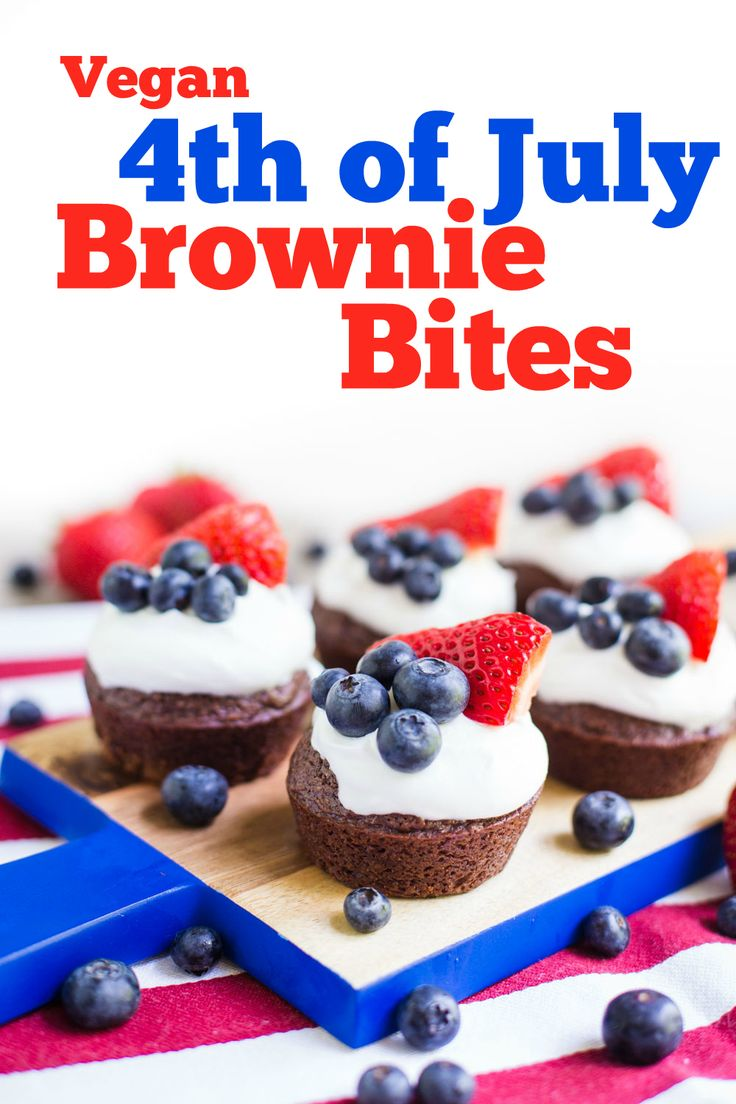 4th of July Brownies- these are dairy-free, VEGAN, super easy to make ...