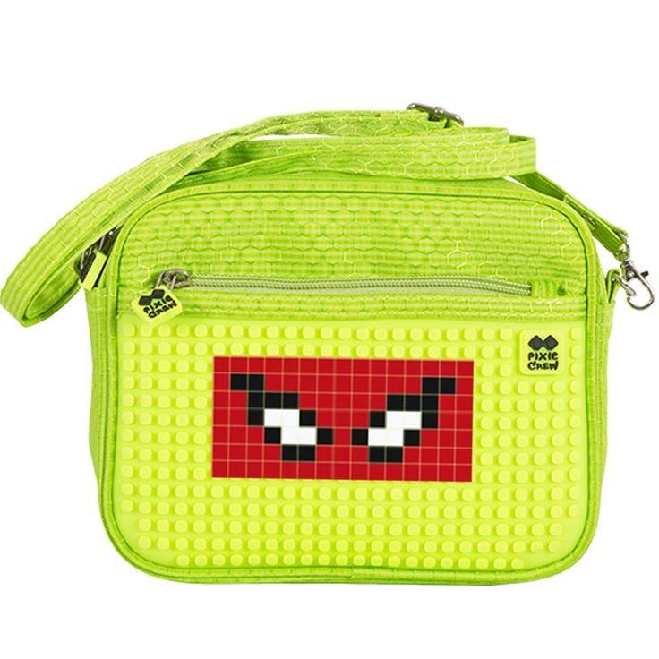 PIXIE CREW Handbag GREEN/NEON YELLOW - No pattern - Shoulder Bags  | Pixie Crew