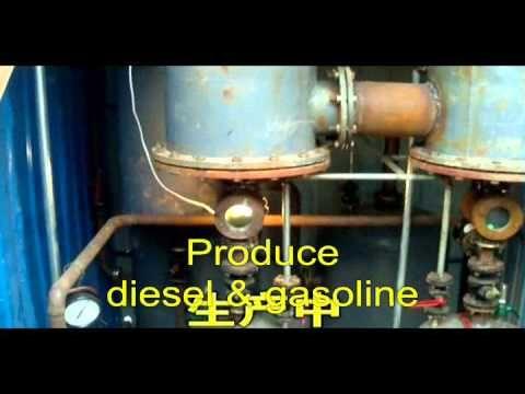 Pyrolysis plant for waste tire and plastic scrap-planta de reciclaje de llantas - YouTube