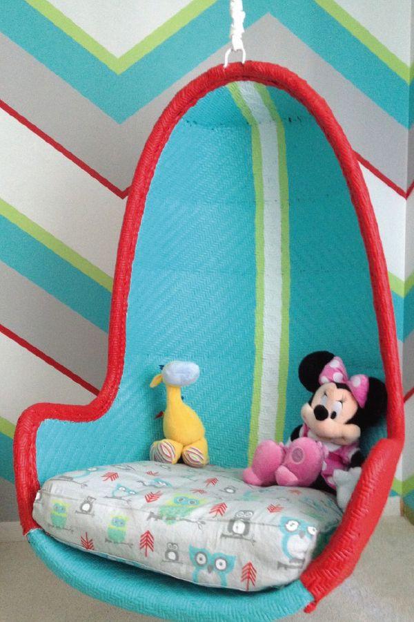 89 best big kid bedrooms images on pinterest child room for Hanging chair for kids room
