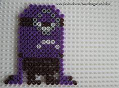 purple minion perler bead pattern   Lila Minion Bügelperlen Perler beads by Baumberger Entdecker - www ...