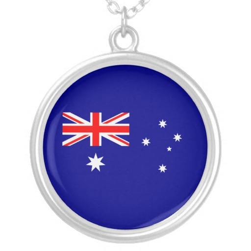 Australian flag for this necklace .