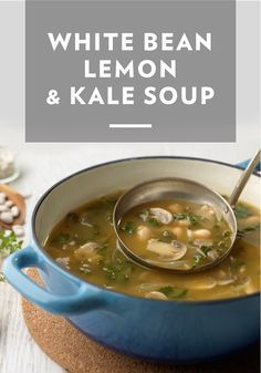 This delicious White Bean, Lemon, & Kale Soup is guaranteed to be a staple on crisp fall days. Serve this savory recipe right out of the stockpot for a rustic dinner presentation.