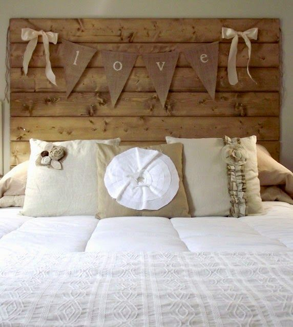 8 cabeceiras de camas em madeira reciclada
