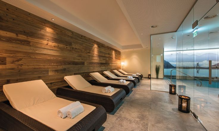 Relaxation area for a spot skiing nap #spa #luxury #relaxation #luxurychalet #stanton