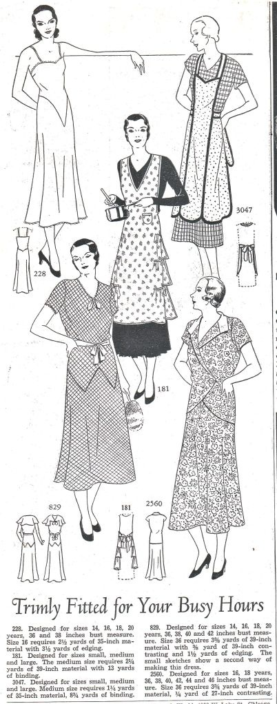 What Stay At Home Moms wore in 1931