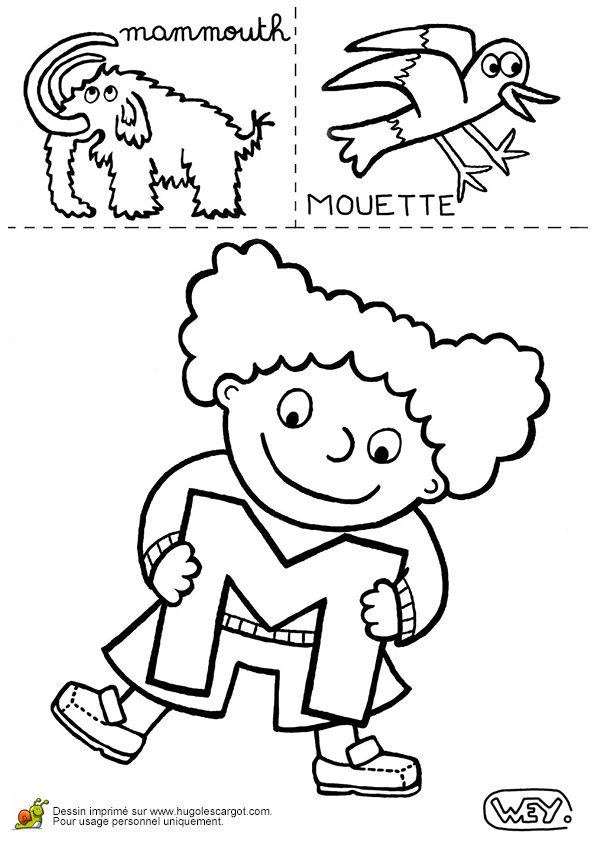 Lettre M Mammouth Mouette, page 13 sur 26 sur HugoLescargot.com