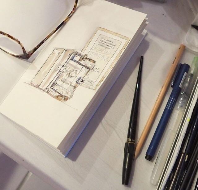 Traveler S Notebook 027 Watercolour Paper Regular Standard