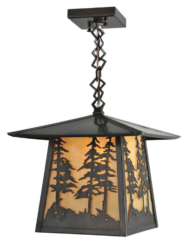 Meyda tiffany 99530 stillwater tall pines 12 wide foyer hanging outdoor light fixture