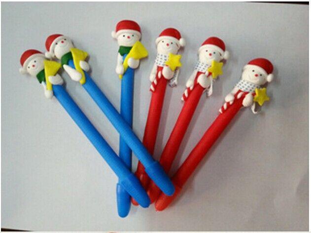 Детские творческие подарки оптом профессиональное призы украшения дед мороз кукла полимерная глина шариковая ручка новогоднее украшение, принадлежащий категории Ручки и относящийся к Офисные и школьные товары на сайте AliExpress.com | Alibaba Group